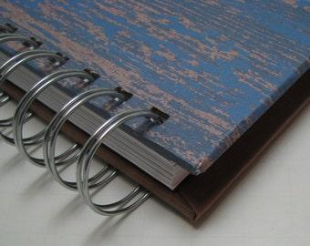 Blank Journal/ Journal/ Prayer Journal/ Daily Journal/ Lined Journal/ Wire Bound Journal/ Diary/ Sketchbook/ Notebook/ Blue Wood Masculine