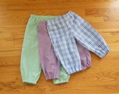 BOYS Collegiate TriCheck Bloomer Bubble Pants Straight Leg Britches Pantaloons for Baby Boys in YOUR CHOICE of colors - 6 months to size 8
