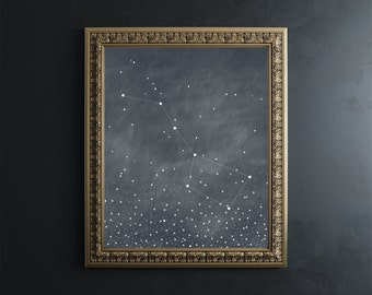 Big Dipper Fine Art Print // Ursa Major // constellation // astronomy // giclee print // wall art // wall decor // gifts for her /home decor