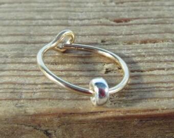 Piercing Hoop Earring GoldSilver Band Tragus Piercing, Rook Piercing, Daith Piercing, Helix Piercing, Cartilage Piercing, Conch Piercing