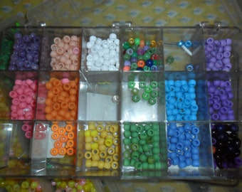 Container of Multi-color Pony Beads