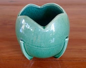 Vintage Nelson McCoy Green Ball Rocketship Planter Midcentury Cute and Collectible