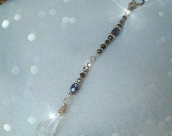 SPARKLY BRIOLETTE  Rearview Mirror Jewel, Sun catcher Suncatcher, Feng Shui Crystal