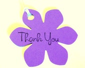 30 Tags, Gift Tags, Thank You, Merchandise, Hang, Purple, Funky Flowers, Party Favor Tags