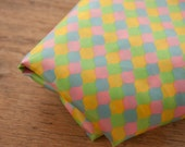 Cute Mod Geometric- Vintage Fabric Novelty New Old Stock 60s 70s Pink Green Yellow Blue Shapes