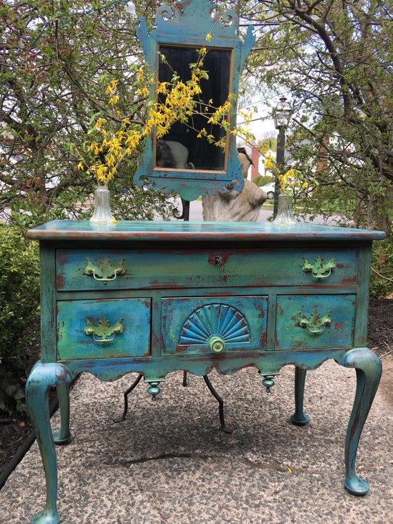 items similar to sold vintage buffet painted turquoise buffet painted sideboard turquoise. Black Bedroom Furniture Sets. Home Design Ideas