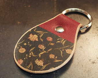Floral tapestry keychain