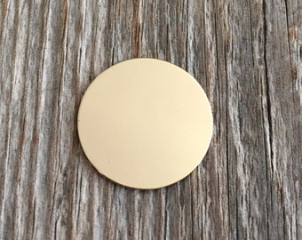 2 Pack 3/4 Inch 22 Gauge Gold Fill Disc -- Jewelry Stamping Supplies
