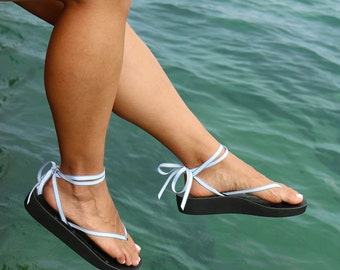 Cloud Sandals | 5 sets of interchangeable ribbons | 3D custom sandals made in USA