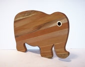 BIG Elephant Cutting Board Handcrafted from Mixed hardwoods