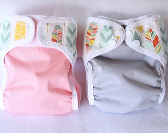 CUSTOM /Feather diaper cover/waterproof/ cloth diaper cover /wrap/ leg gussets/ snaps or velcro/Choose pul color
