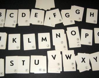 52 Vintage  Alphabet Cards- for Crafts, Altered Art, Scrapbooking, Collage, etc