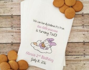 Daisy Birthday Favor Bags, Daisy Duck Birthday, Candy Buffet Bags, Girl Birthday Favors, Birthday Treat Bags, Favor Bags, Favors, Daisy Duck