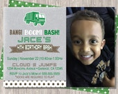 Garbage Truck Invitation / Garbage Truck invitation / Garbage Truck Birthday Invitation / Garbage Truck Birthday / Garbage Truck Printable