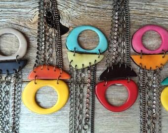 Adjustable length wrap bracelet multi chains/Other Colors Avail