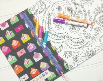SUMMER SALE - NEW - Color me wallet with washable markers - Color, wash, repeat  - Love notes