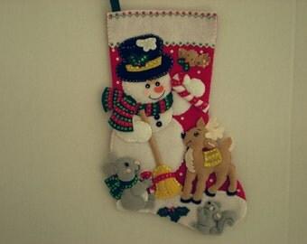 Bucilla Snowman & Friends Stocking