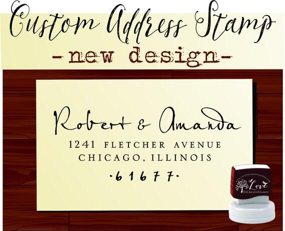 Custom Return ADDRESS STAMP Personalized Self Inking Calligraphy Stamper - style 9013B