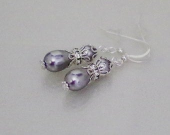 Swarovski Pearl and Crystal Bridal Earrings - MADE TO ORDER in Any Color