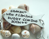 Fishing Lure Personalized, Fishing Gift, Custom Fishing Lure, Pregnancy Reveal To Grandpa, Grampa, Fisherman Gift, Grandpa Gift, Grampa Gift