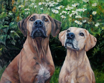 "Custom Pet Portrait Oil Paintings by puci, 18x24"", ""Eyes to The Sky"""