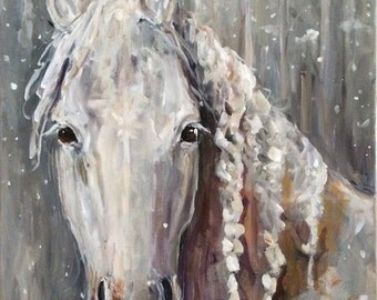 Horse Painting titled STORM
