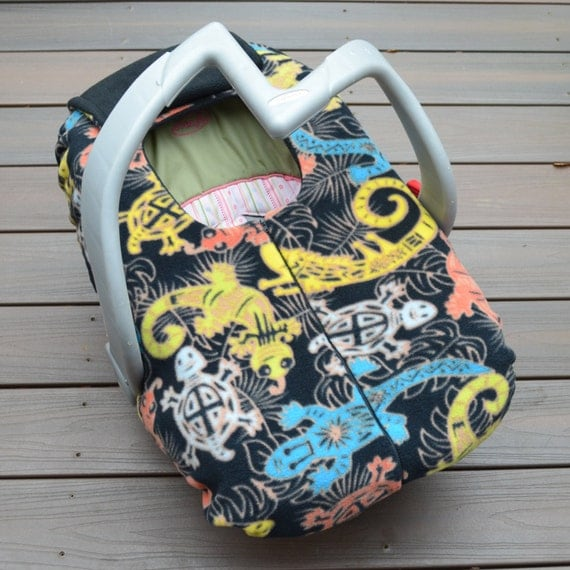 lizards turtles tribal baby car seat cover primitive style. Black Bedroom Furniture Sets. Home Design Ideas