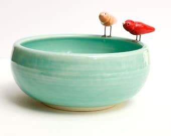 porcelain bird bowl