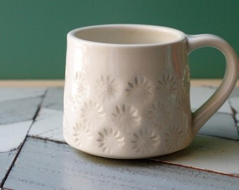 porcelain coffee cup, white
