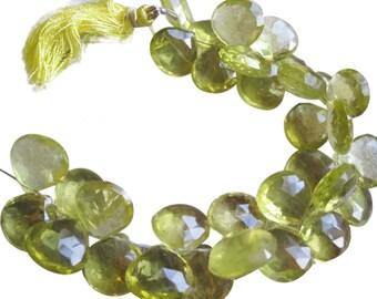 Lemon Topaz Beads Briolettes, 13-15mm, Luxe AAA, Yellow Topaz Beads, SKU 2439