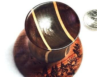 DEEP DARK WOODS, hand turned wood spindle bowl