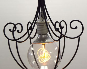 edison led cool bulb in a wire pendant light fixture sold 1 each