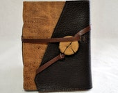 Medium Earthy Leather Journal with Recycled Paper