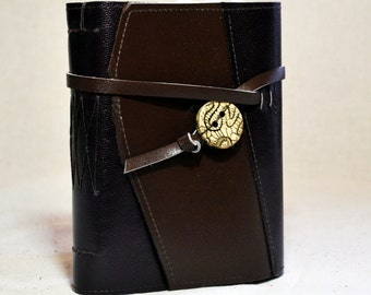 Medium Leather Journal with Specialized Handmade Paper