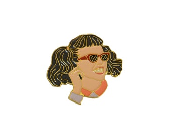 Jan Pink Lady Enamel Pin