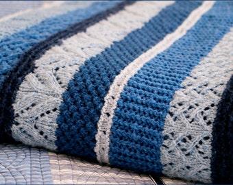 Knitting Pattern Queen Size Blanket : King size blanket Etsy