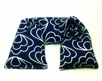 Microwavable Neck Wrap - Flax Seed Heating Pad - Organic cotton fabric Organic Herbs Unscented or scented - Hanukkah gift Men, Dad, Father