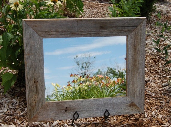 Rustic Mirror Aspen Style With Beveled Barnwood Frame