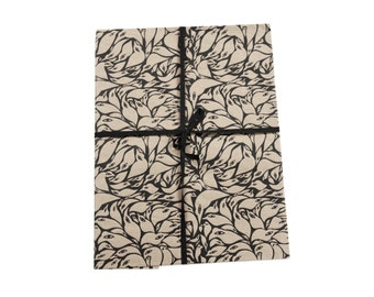 100% Recycled Handprinted Giftwrap Set - Birds