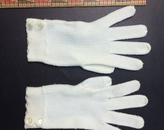 2 Pairs of Vintage Children Gloves-knit and cotton