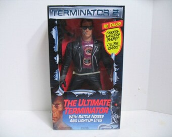 Vintage Terminator 2 The Ultimate Terminator Talking Figure Doll Sealed in Box MIB 1991 Kenner Arnold Schwarzenegger