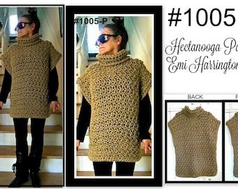 CROCHET PATTERN, Poncho, Winter Clothing, Child-Teen-Women, Easy pattern, Taupe Poncho, #1005P, vest, sweater, crochet for women,