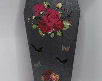 Trinket Box - Goth Coffin - Rose Romantic