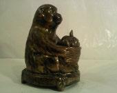 FREE SHIPPING vintage monkey incense burner (Vault B)
