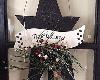 "Winter Star, 21"" long, personalized"