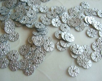 10 g of 5 mm Sunny Round Sequins in Silver Color, You Pick the weight