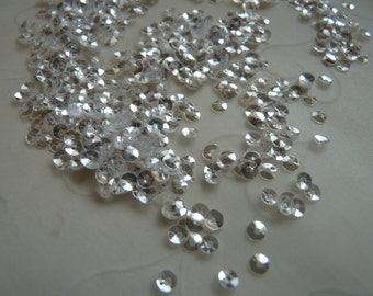 10 g of 3 mm Round Cupped Sequins in Super Sparkle Clear Color