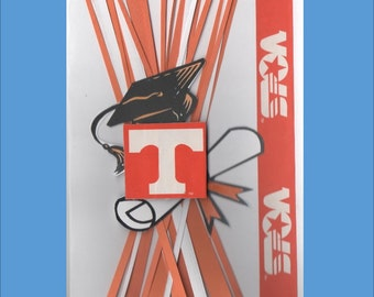 Handmade Tennessee Vols Graduation Cards - Congratulations Card - Free shipping in USA