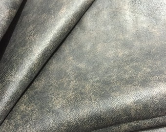 Soft brown distressed lambskin leather - a 6 plus square foot cutting