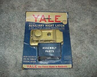 Vintage--NOS--Yale--Auxiliary Night Latch--Factory Sealed--Unused--1960's--Model GC5-80--House Lock--Door Lock